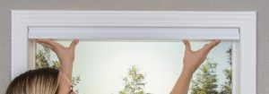 How to fit paper blinds stick up